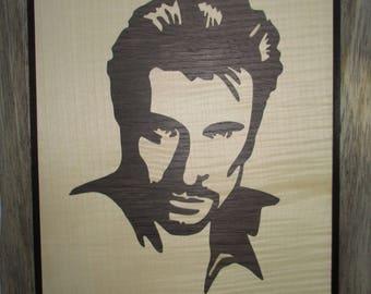 Portrait of Johnny Hallyday