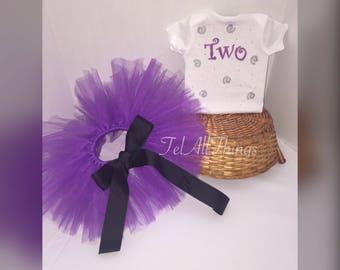 Purple tutu & onesie Newborn 0-3 months 3-6 months 6-9 months 12 months 18 months 24 months