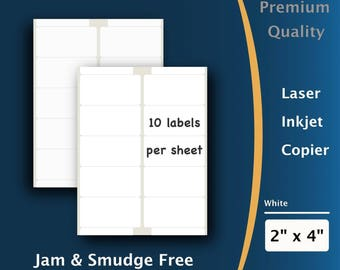 PACKZON® Shipping Labels 1000 2x4 Rounded Corner Self Adhesive 10 Per Sheet