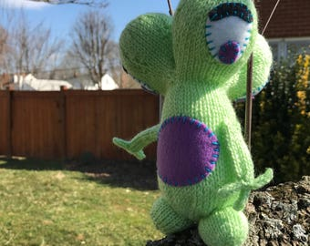Plush Monster Toy, Stuffed Alien Toy, Amigurumi