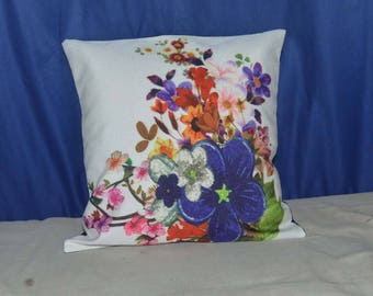 Flower Decorated printed Cushion Cover Pillow Cover