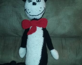 Cat in the Hat Crocheted Stuffed Animal
