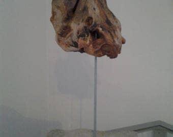 Statue of Driftwood sculpture