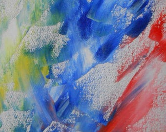 Butterfly - primary colors - intuitive painting - abstract art