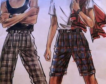 Great Pattern for Men's Shorts or Pants---New Look 6355---Sizes 30-39  UNCUT