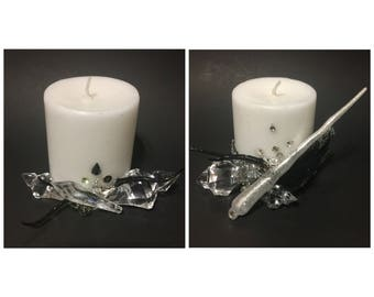 Noir & Nocturnal White Wax Candles