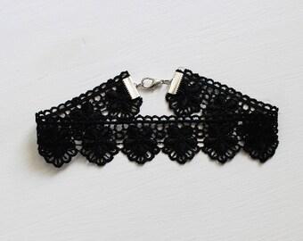 Black lace choker necklace vintage style necklace. Black lace choker, jewelry Boho,Boho necklace. Black choker.