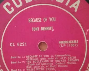 Tony Bennett - Because of You LP 33 1/3 RPM