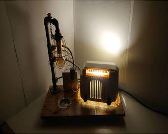 4 Antique Radio Lamp Blue Tooth