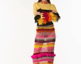 Hand knitted skirt