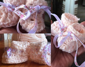 Crochet Newborn to 12 months Baby Booties