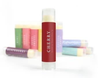 Lip Butter | Cherry Flavored Lip Balm | Natural Lip Care, Lip Butter, Lip Balm, Homemade Lip Balm, Beeswax Lip Balm