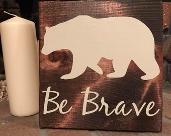 Woodland Motivational Signs, bear