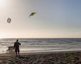 Kite flyer- original fine art photography print - travel photography - wall decor - nature and landscape photography