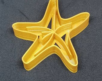 3D Printed Starfish Cookie Cutter Fondant Cutter Children's Toy