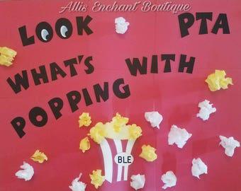 School Banner Pta Bulletin Board Decorations School bullenting Board information Pta News board Pta school sign