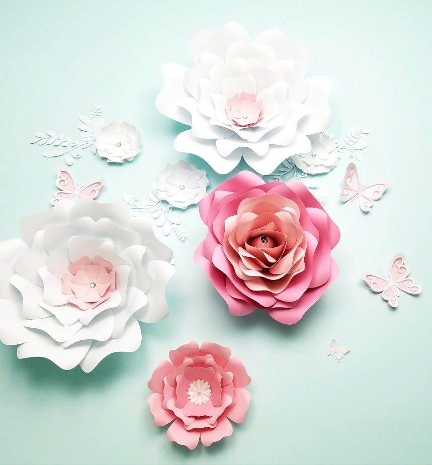 Paper flowers wall decor large paper flowers wall decor nursery paper flowers wall decor large paper flowers wall decor nursery flowers wall wedding mightylinksfo