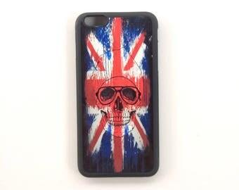 Black soft rubber Iphone 6 + phone case