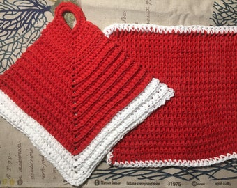 Handknit Dishcloth Set