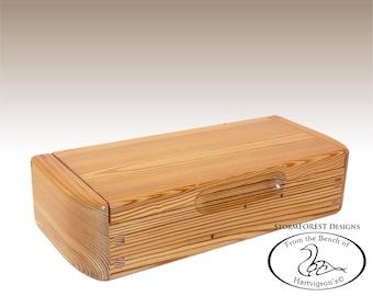 Antique Reclaimed Heart Pine Mini Chest/Desk Box, Made in Alaska, Ser.#SB2016-0809