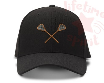 Lacrosse Sticks - I love lacrosse - Low Profile Dad Hat - Baseball Cap