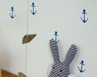 Navy anchor stickers to dress up your walls