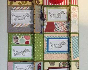 Handmade boxed set Wirehair dachshund greeting cards