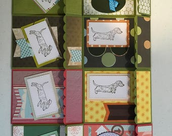 Handmade boxed set Wirehair and smooth dachshund greeting cards