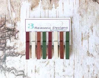 Fall Decorative Clothespins - Fall Decor - Party Banner - Fridge Magnet - Office Organization - Photo Holder - Card Display - Clothespins