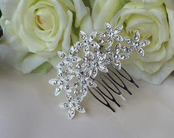 Bridal hair comb, crystal hair comb, wedding hair accessories, bridal hair accessories, wedding hair comb, rhinestone hair comb, silver
