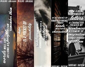 SHATTER ME Bookmarks  ( unravel me & ignite me )