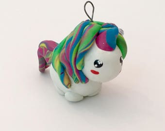 Adorable Rainbow Unicorn Gem Charm