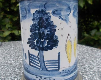Old German beer Stein-faience Ansbach style?