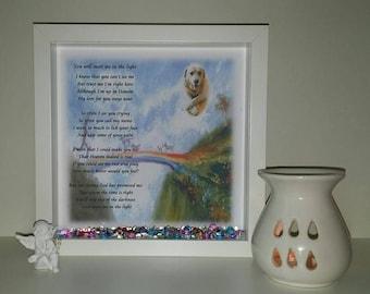 Rainbow Bridge personalised memorial gift