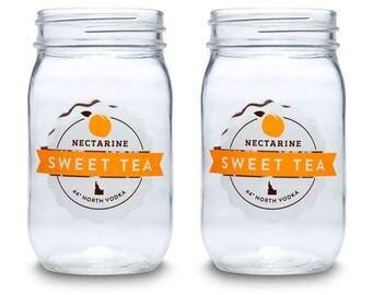 44 North Vodka Sweet Tea Jars - Set of 4