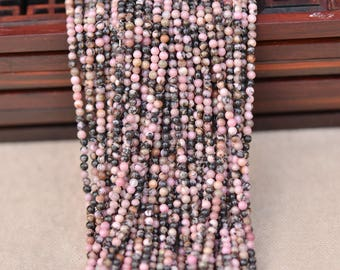 "Rhodonite Natural Gemstone Jewelry Round 2mm Beads Full Strand 15.5"", 3170120104930"