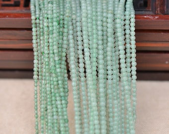 "Green Aventurine Natural Gemstone Jewelry Round 2mm Beads Full Strand 15.5"", 3170120104930"