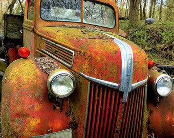 old rustic Ford truck photography print, gifts for men, ,mancave