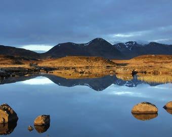 Sunrise, Rannoch Moor, Scotland, A6 Greetings Card
