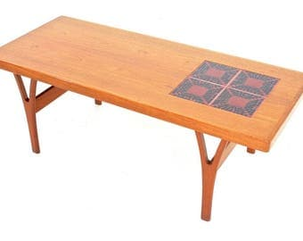 Mid Century Coffee table By Trioh Of Denmark...Free Shipping.