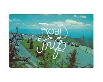 Screenprinted vintage postcard - Road Trip