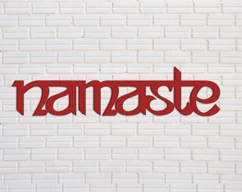 Namaste Wood Sign, Custom Wood Sign, Home Decoration Signs, Wood Word Sign,
