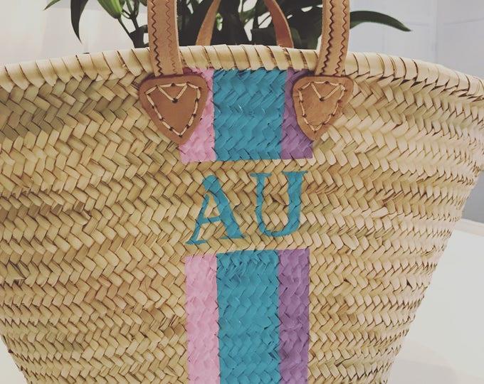 Featured listing image: Ibiza - Monogrammed French Basket - Ibiza