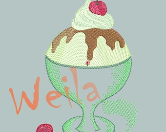 Ice Cream - Embroidery design - Digital Download