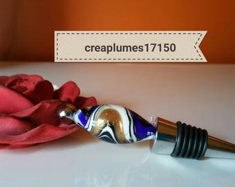 Pearl glass wine bottle stopper