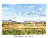 Three Canaan Valley Prints with Custom Text Added