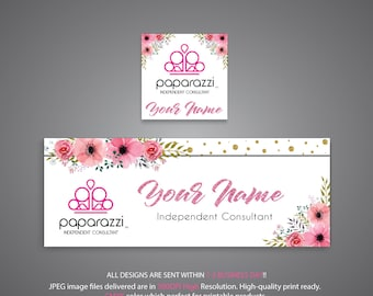 Paparazzi Facebook Cover, Custom Paparazzi Facebook Banner, Pink Glitter Card, Free Personalization, POP-UP banner, Paparazzi Banner PP72