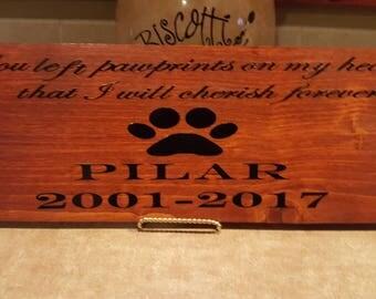 Pet Memorial Sign