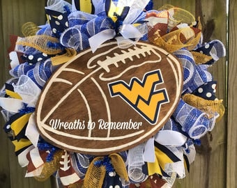 WV Mountaineer football wreath