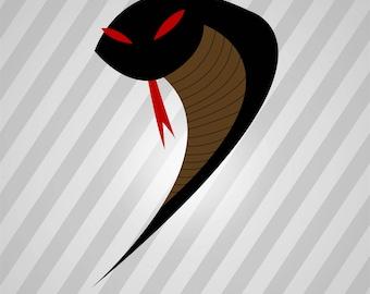 Snake Silhouette - Svg Dxf Eps Silhouette Rld Rdworks Pdf Png Ai Files Digital Cut Vector File Svg File Cricut Laser Cut